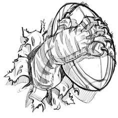 New #sketch: #rugby #tiger #cartoon #illustration #mascot #drawing @SketchBookPro @wacom #Cintiq