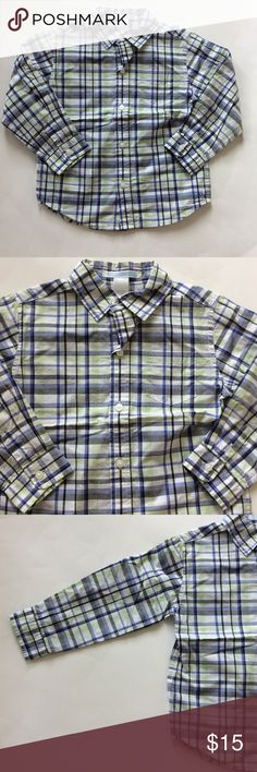 👫Janie and Jack Button Down shirt Janie and Jack Button Down shirt. Super cute lavender, green and grey plaid. Sleeves can be rolled and buttoned or worn as long sleeves. 100% cotton. Size 3. Excellent condition, just a bit wrinkled from storage. Janie and Jack Shirts & Tops Button Down Shirts