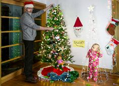 Christmas Time Out - People thought I was crazy buying a second Christmas tree, but it sure comes in handy when Alice Bee decides she'd rather put her own decorations on our otherwise perfectly trimmed tree. Days Before Christmas, Very Merry Christmas, Christmas Time, Father Christmas, Father Daughter Pictures, Daddy Daughter, Daughters, Top Photos, Baby Photos