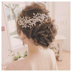 Bridal Hairdo, Hairdo Wedding, Wedding Hair Pieces, Dance Hairstyles, Bride Hairstyles, Diy Hair Jewellery, Hair Arrange, Bridal Hair Accessories, Bridal Makeup