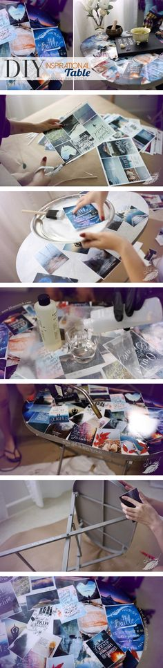DIY Pinterest Tumblr Collage Table | lifestyle