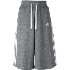 outlet store 9c3b6 c8325 Adidas Originals three stripe culotte shorts (€55) ❤ liked on Polyvore  featuring grey and adidas originals