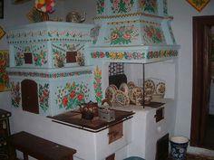 Hungarian traditional kitchen stove-furnance hagyomanyos konyha tuzhely-kemence…