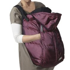 Use the 7 A.M. Enfant Pookie Poncho Classic 3-in-1 Coveras a baby carrier cover or car seat cover or stroller bunting bag.  Fits all baby carriers, strollers and car-seats.  Water repellent shell, ultra-soft premium poly insulation and anti-pilling micro fleece lining.