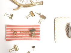 Custom Cursive Monogram Jewelry Dish/Tray - perfect for weddings, bridesmaids, sororities!