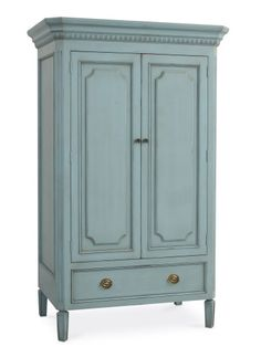 Cottage Home - Stony Brook Armoire in Robin's Egg Blue