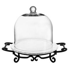 Nora Domed Marble Cheese Server