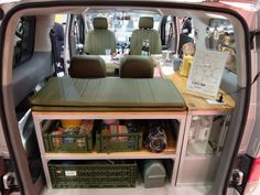 The interior of the Nissan NV 200-based  Free style Camper by RIW