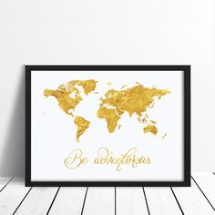 Be Adventurous Poster Wall Decor Minimal Art by LovelyPosters