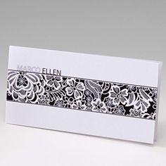 Trouwkaart Floral white