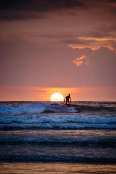 Sunsets In Costa Rica Surfing Someday