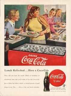 Coca-Cola Vintage Advertising - I Antique Online Pepsi Ad, Coca Cola Poster, Coca Cola Drink, Coca Cola Ad, World Of Coca Cola, Vintage Humor, Vintage Ads, Vintage Posters, Retro Ads