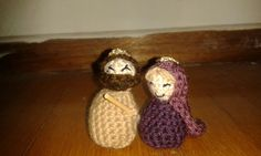Crocheted Holy Mary and Joseph for Christmas