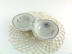 Vintage Porcelain Doble Salt Container Double Salt by ContesDeFees