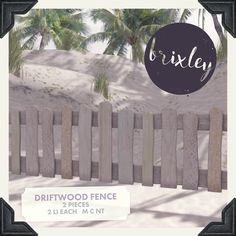 #secondlife BRIXLEY – DRIFTWOOD FENCE AND MERMAID / BEACH SIGN – THE FANTASY COLLECTIVE - https://secondsocial.eu/brixley-driftwood-fence-and-mermaid-beach-sign-the-fantasy-collective/