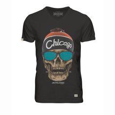 T-shirt skunny estampada, decote em v Jack & Jones | La Redoute