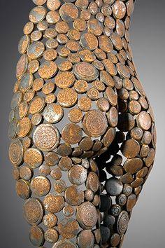 Junk Metal Art, Scrap Metal Art, Sculpture Art, Sculptures, Mannequin Art, Metal Art Projects, Coin Art, Fantasy Concept Art, Deco Originale
