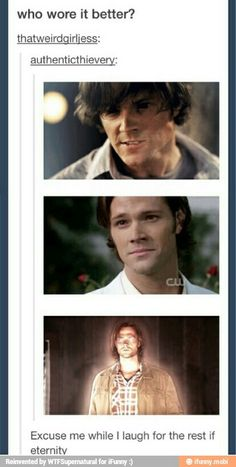 Who wore it better? XD #supernatural