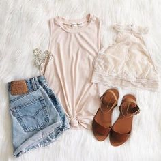 The Guide to Casual Summer Outfits - Page 11 of 257 - newtrendstyles Style Outfits, Mode Outfits, Casual Outfits, Fashion Outfits, Casual Wear, Look Fashion, Teen Fashion, Womens Fashion, Style Casual