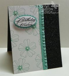 Stampin' Up! Flower Shop & Black Stampin' Glitter by Debbie Henderson, Debbie's Designs.