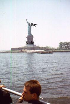 35mm Slide Statue of Liberty New York City Scenic View Kodachrome 1965