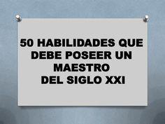 Competencias digitales de un maestr@ XXI by Ing. Augusto Bernal via slideshare