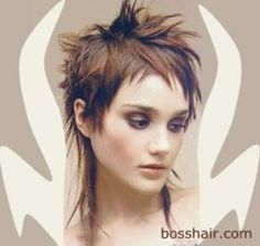Short, spiky hairstyles are very popular with women because they can suit so many styles! An edgy, punky style goes brilliantly with short spiky hair, but it. Short Spiky Hairstyles, Girls Short Haircuts, Cool Hairstyles, Hairstyles 2016, Mullet Hairstyle, My Hairstyle, Short Punk Hair, Short Hair Cuts, Short Bangs