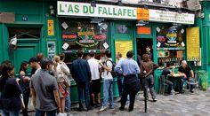 Marais area Falafel, Café Les Philosophes (28, rue Vieille du Temple)for coffee in the morning
