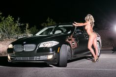 Car and Girl Bmw