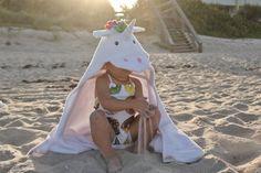 Yikes Twins Unicorn Hooded Towel | Etsy Hooded Bath Towels, Swim Lessons, Beach Kids, Polar Fleece, Rainbow Colors, Baby Animals, Hoods, Little Girls, Birthday Gifts