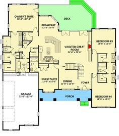 Spacious Craftsman House Plan with Superb Owner's Suite - 46305LA | 1st Floor Master Suite, Bonus Room, Butler Walk-in Pantry, CAD Available, Craftsman, Den-Office-Library-Study, Jack & Jill Bath, PDF | Architectural Designs