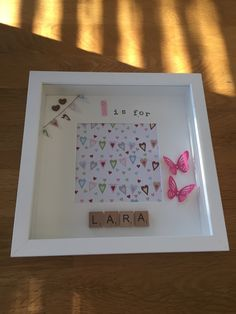 C is for Chloe - handmade / personalised scrabble memory frame - £15.00 plus P&P