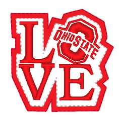 LOVE Ohio State Feltie Embroidery for Machine by EmbellishStar, $3.00