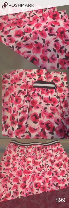 Kate Spade mini-rose pleated silk skirt NWT Kate spade mini-rose pleated skirt 100% silk, elastic waist band, with zipper. Size 4. NWT Final Price Please kate spade Skirts