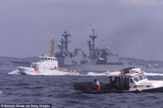 Buried at sea: The remains of JFK Jr., his wife Carolyn and her sister Lauren were cremated and scattered at sea during a ceremony aboard the Navy destroyer USS Biscoe  Read more: http://www.dailymail.co.uk/news/article-2486083/Kennedys-fought-bodies-buried-JFK-Jr-plane-crash-bullied-heartbroken-mother-wife-Carolyn.html#ixzz2jo7T4HA8  Follow us: @MailOnline on Twitter | DailyMail on Facebook