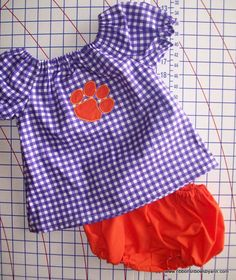 Peasant Style Dress Clemson South Carolina by RibbonsNBowsByAnn, $22.00
