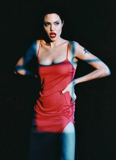 Rebel with a cause- Angelina Jolie- photographed by Noami Kaltman- 1998