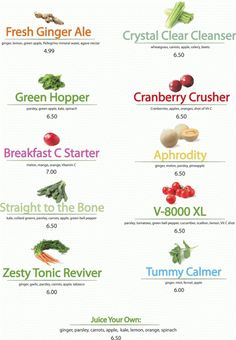 juice bar menu - Cerca con Google