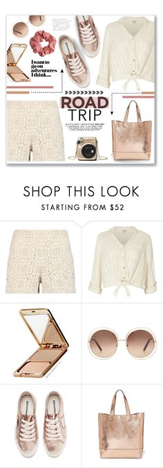 """Road trip!"" by lilymillyrose ❤ liked on Polyvore featuring Alice + Olivia, River Island, Napoleon Perdis, Chloé, Superga and Steve Madden"