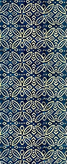 Intricate Designs: Indonesian Craft Textiles When we think of Indonesia, our thoughts immediately go to idyllic beaches in Bali. Indonesia, however, has a rich craft culture that has had a wider impact on Western design than most people realise. Motifs Textiles, Textile Prints, Textile Patterns, Color Patterns, Print Patterns, Textile Pattern Design, Lino Prints, Block Prints, Indigo Prints