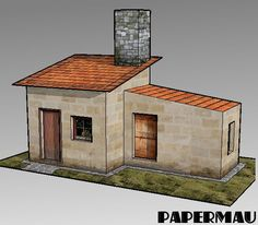 Here Is More One Simple And Easy To Build Little House Paper Model For Dioramas RPG Wargames This Occupies Two Sheets Of