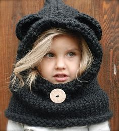 If anyone can knit this...I will take one in black or grey for Maliyah! SO CUTE