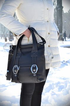 BLACK LEATHER HANDBAG Leather Purse Leather Shoulder by CORYSBAGS