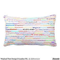 Wayland Text Design II Lumbar Pillow