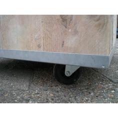 Bloembak met wielen 1, 80x80x80, 347,-