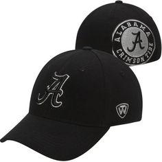 Top of the World Alabama Crimson Tide Mens Black Memory Fit Flex Hat
