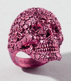 pink skull ring