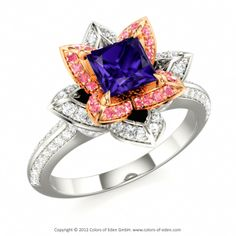 Flower Engagement Ring Lotus #engagement