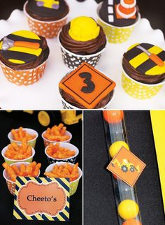 fondant construction cupcake toppers