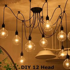 12 Head Industrial Vintage Edison Chandelier Pendant Ceiling Lamp Fixture  Worldwide delivery. Original best quality product for 70% of it's real price. Buying this product is extra profitable, because we have good production source. 1 day products dispatch from warehouse. Fast &...